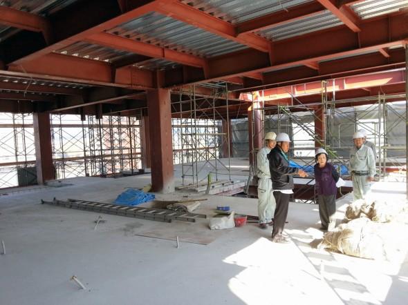調理新校舎工事風景