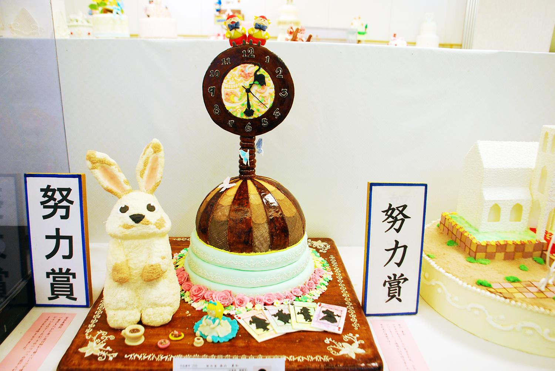 製菓技術科学生による工芸菓子作品