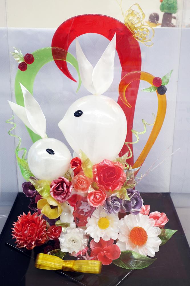 製菓技術科1年生による工芸菓子作品